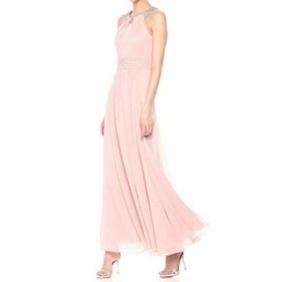 Eliza J エリザジェイ ファッション ドレス Eliza J Womens Dress Pink Size 8 Maxi Chiffon Halter Embellished