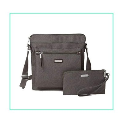 Baggallini New Classic Go Bagg with RFID Phone Wristlet Dark Umber One Size並行輸入品