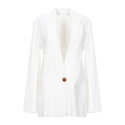 VICTORIA, VICTORIA BECKHAM テーラードジャケット ホワイト 10 レーヨン 94% / ナイロン 5% / ポリウレタン