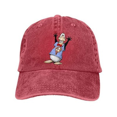 Opus The Penguin Unisex Cotton Baseball Cap Adjustable Cowboy Dad Hat Red