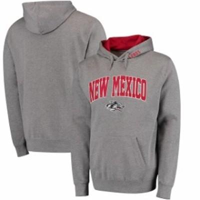 Stadium Athletic スタジアム アスレティック スポーツ用品  New Mexico Lobos Gray Arch & Logo Pullover Hoodie