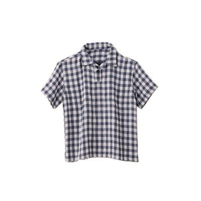 トップス シャツ メンズ パジャマ ワンマイルウェア ガーゼ ハイドロ銀チタン cococi LDK ギンガムチェック