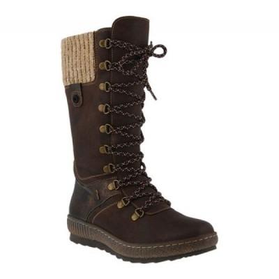 スプリングステップ Spring Step レディース ブーツ シューズ・靴 Chibero Mid Calf Boot Dark Brown Vegan Synthetic