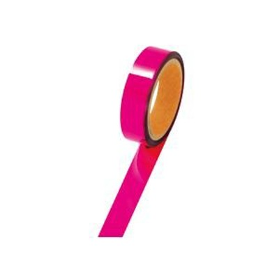 (まとめ) ササガワ メッキテープ幅25mm×長さ50m 桃 40-4482 1巻 〔×5セット〕 〔送料無料〕
