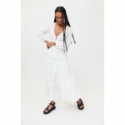 アーバンアウトフィッターズ Urban Outfitters レディース ワンピース ミドル丈 ワンピース・ドレス UO Briella Plunging Button-Front M