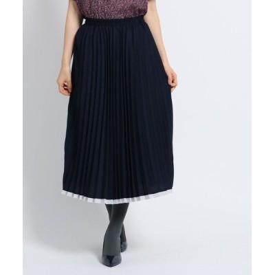 SunaUna/スーナウーナ 【洗える】アコーディオンプリーツスカート ネイビー(593) 38(M)