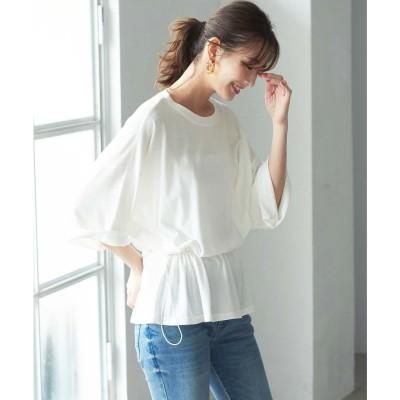 ジーラ GeeRA 【WEB限定】 ウエストスピンドルTシャツ (オフホワイト)