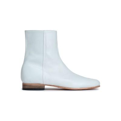 DIEPPA RESTREPO ショートブーツ ホワイト 6.5 革 ショートブーツ