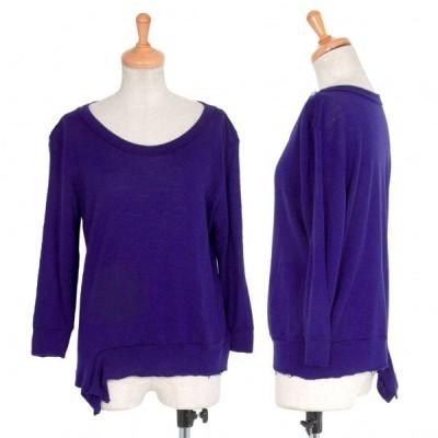 ワイズY's ウール裾変形断ち切りデザインカットソー 紫2 【レディース】