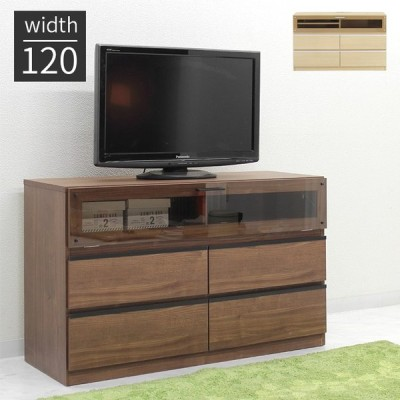 テレビ台 テレビボード ハイタイプ 完成品 幅120cm 木製