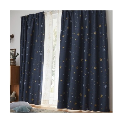 ヴィンテージ感のある星柄1級遮光カーテン ドレープカーテン(遮光あり・なし) Curtains, blackout curtains, thermal curtains, Drape(ニッセン、nissen)
