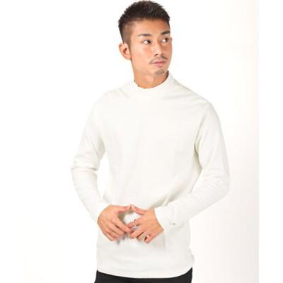 【ラグスタイル】 スムース無地ハイネックロンT/ロンT メンズ 長袖 Tシャツ ハイネック スムース地 メンズ ホワイト XL LUXSTYLE