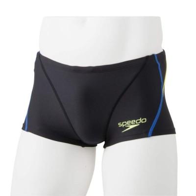 Speedo(スピード) 練習水着 男の子 ジュニア ボックス タッチ ターンズ 競泳 トレーニング STB51901 ブラック×ブルー KB 130