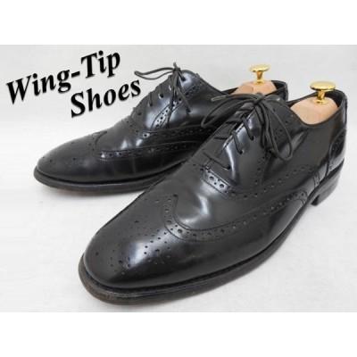 古着 大きいサイズ OAKTON:オークトン 内羽根フルブローグ/ウィングチップシューズ 靴 カラー:ブラック メンズ US 10.5D/ 28.5cm f-2029