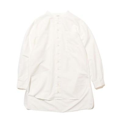 シャツ ブラウス HARVESTY/ハーベスティ クールマックス バンドロングシャツ