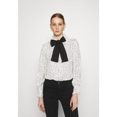 シスタージュン シャツ レディース トップス GET TOGETHER RUFFLE BOW BLOUSE - Button-down blouse - ivory