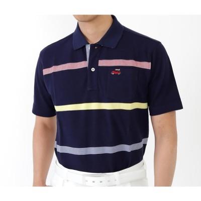 CAPURI BLUE 半袖ポロシャツ 綿100%ポロ<I.T.O ジャパン>ネイビー