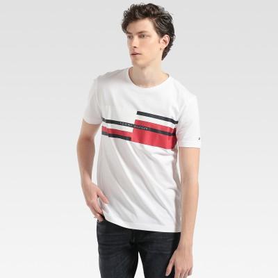 【公式】TOMMY HILFIGER ストライプロゴTシャツ