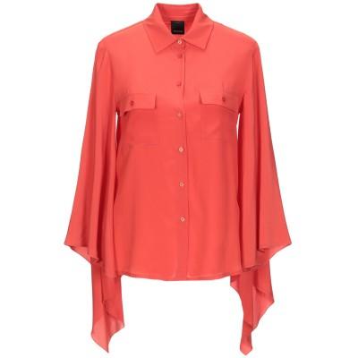 ピンコ PINKO シャツ 赤茶色 36 アセテート 76% / シルク 24% シャツ