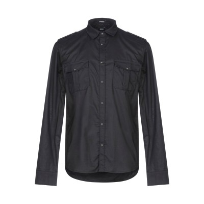 OFFICINA 36 シャツ ブラック M コットン 100% シャツ