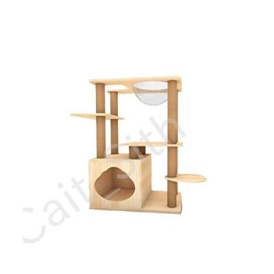Lcxliga Wooden Pet Supplies, Solid Wood Cat House Pet Shop Cat Toy Cat Pillar Small Cat Climbing Frame[並行輸入品]
