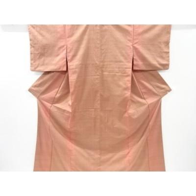 リサイクル 縞織り出し手織り真綿紬着物