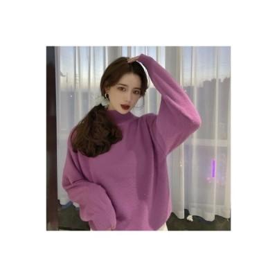 【送料無料】~ 韓国風 セミハイ襟 ルース 着やせ 手厚い ヘッジ 長袖のセーター | 346770_A64592-2047563