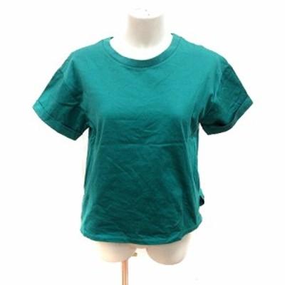 【中古】イエナ スローブ IENA SLOBE カットソー Tシャツ クルーネック 半袖 F 緑 グリーン /RT レディース