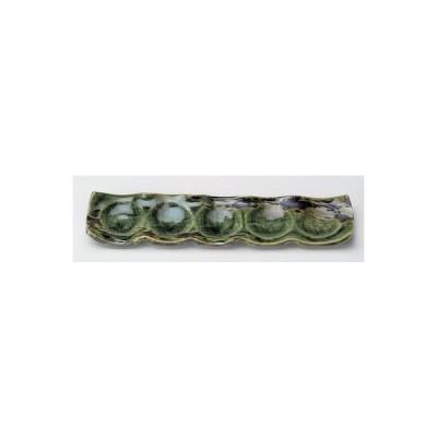 和食器 / 仕切皿 オリベ結び皿5連 寸法:30.5 x 7 x 2.2cm 土物