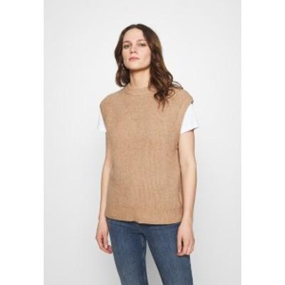 サムスサムス レディース Tシャツ トップス NOR VEST  - Print T-shirt - camel brown camel brown