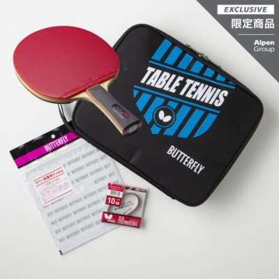 バタフライ アルペン・スポーツデポ限定 スターターセット TB5α 貼り合わせ加工済み ブルー 16970ST2 卓球 ラケット BUTTERFLY