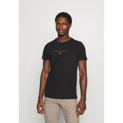 トミー ヒルフィガー Tシャツ メンズ トップス ESSENTIAL - Print T-shirt - black