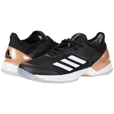 アディダス Adizero Ubersonic 3 レディース スニーカー Core Black/Footwear White/Copper Metallic