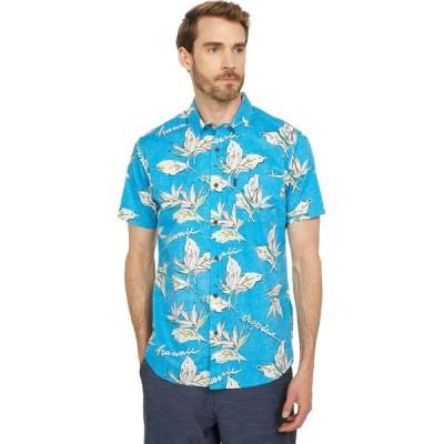 リップカール Rip Curl メンズ 半袖シャツ トップス Hawaii Floral Short Sleeve Woven Blue