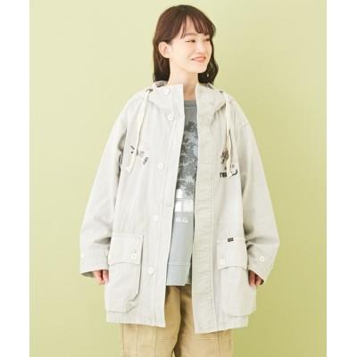 CUBE SUGAR / ムラ糸 ツイル 硫化染 ミリタリージャケット WOMEN ジャケット/アウター > ミリタリージャケット