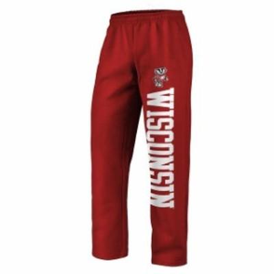 Fanatics Branded ファナティクス ブランド スポーツ用品  Fanatics Branded Wisconsin Badgers Red Sideblocker Fleece Pants