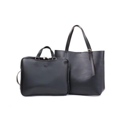 TRYSIL / 2点セットPCバッグ&A4ベルトトートバッグ WOMEN バッグ > トートバッグ