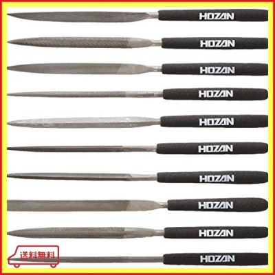 ホーザン(HOZAN) ヤスリセット 10本組 様々な場面で活躍 入組 丸 半丸 平 三角 角 片刃 楕円 槍型 刀刃 K-215