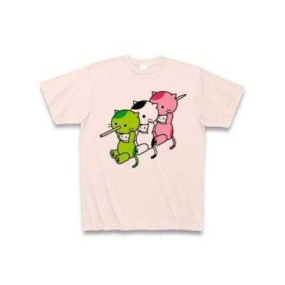 三色団子着ぐるみバイト隊 Tシャツ(ライトピンク)