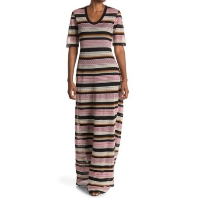 エム ミッソーニ レディース ワンピース トップス Stripe Print Maxi Dress CONFETTI
