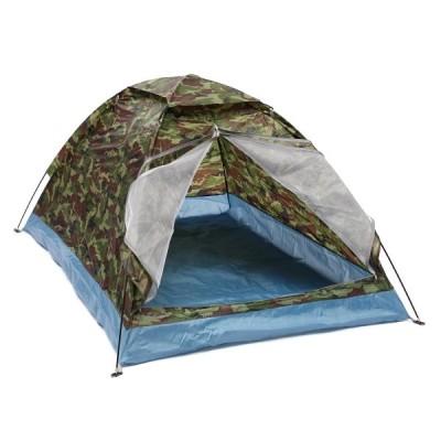 全国送料無料 アウトドア テント 屋外 200*140*110 センチオックスフォード布 PU 防水コーティング 4 季節 2 人単層迷彩キャンプハイキングテント