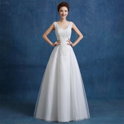 ウエディングドレス Aラインドレス 安い ウエディングドレス 二次会 エンパイア 結婚式 花嫁 ロングドレス ブライダル ウェディングドレス wedding dress