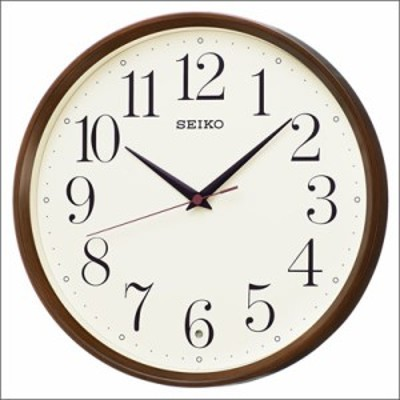 【正規品】SEIKO セイコー クロック KX222B 電波 掛時計 スタンダード