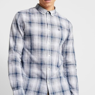 ピアワン メンズ シャツ Shirt - blue