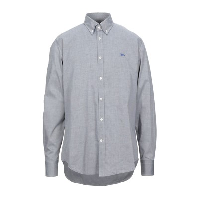 HARMONT&BLAINE シャツ グレー M コットン 100% シャツ