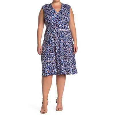 ヴィンスカムート レディース ワンピース トップス Cap Sleeve Side Tuck Jersey Dress PERIWINKLE