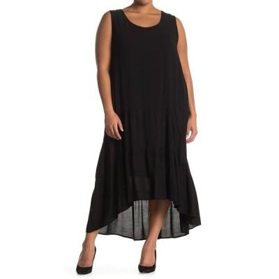 ウエスト ケイ レディース ワンピース トップス Gauzy Hi-Lo Hem Dress BLACK