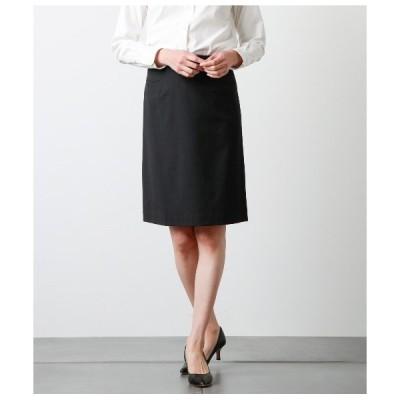 スカート 2WAYストレッチツイル Aラインスカート
