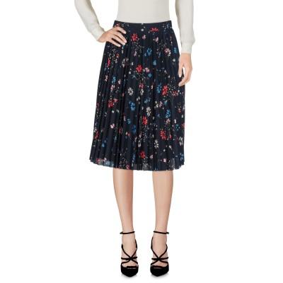 バレンシアガ BALENCIAGA ひざ丈スカート ダークブルー 36 ポリエステル 100% ひざ丈スカート