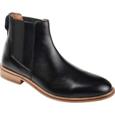 トーマスアンドバイン Thomas & Vine メンズ ブーツ チェルシーブーツ シューズ・靴 Corbin Plain Toe Chelsea Boot Black